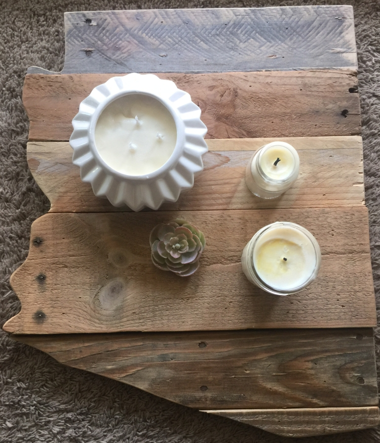 DIY Candle Project Finished Product